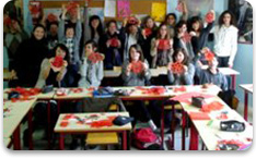 Mandarin Chinese immersion program-Culture activities of Chinese paper cutting