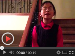 kid talking about how much she loves online mandarin tutor